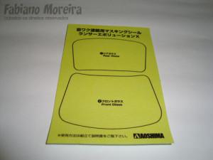 Isso na minha opinião não pode faltar num kit, as máscaras para os vidros do carro. A Aoshima não decepcionou.
